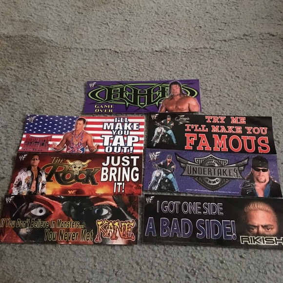 Wrestling bumper decal lot of 7